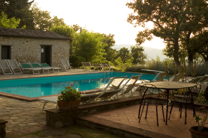 Villa pool in Chianti, Italy